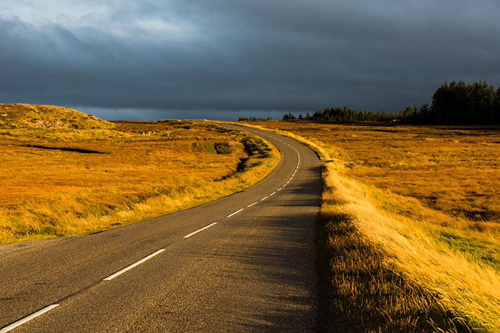 Golden Road - Isle of Lewis by Alicia Dunlop Photography