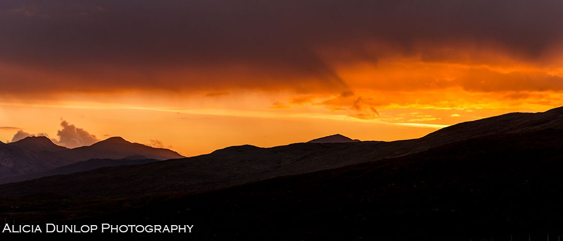 Highland-Sunset by Alicia Dunlop Photography