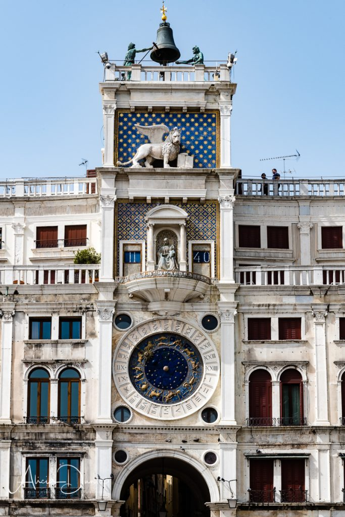 The stunning clock of Torre dell'Orologio, St Mark's Square Venice - Venice in Spring
