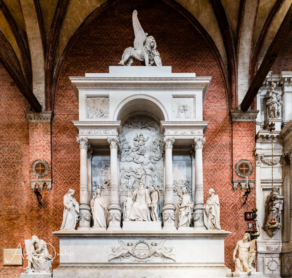 The monument to Titian in Frari - Venice in Spring series