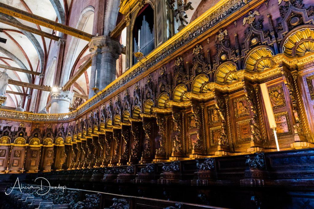 The stunning choir stalls in Frari - Venice in Spring series