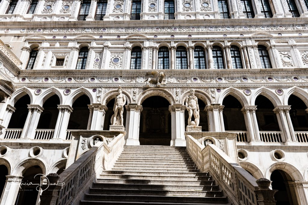 The renaissance staircase in the Doge's Palace - Venice in Spring series Things to do in Venice
