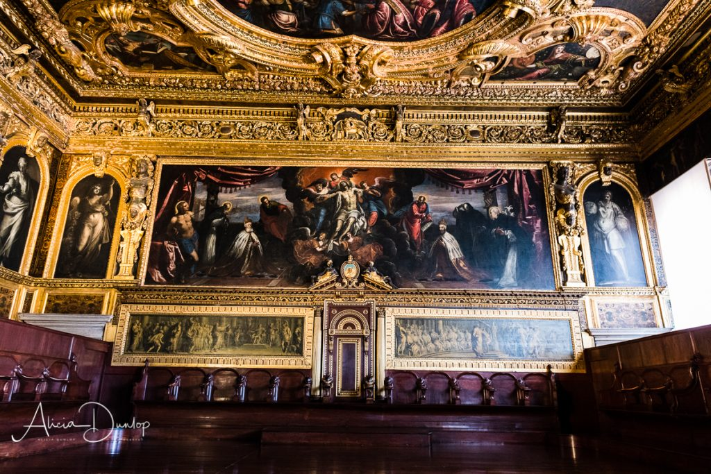 The Doge's Palace Senate Chamber - Venice in Spring series Things to do in Venice