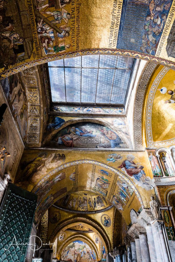 Golden Mosaics - Entrance to St Mark's Basilica - Venice in Spring series Things to do in Venice