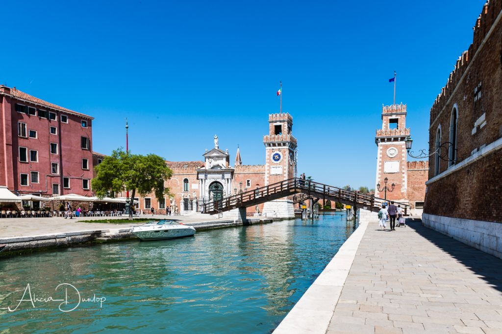 The main gates of the Arsenale, the Porta Magna - Venice in Spring series
