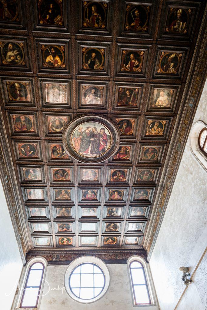 The ceiling of Santa Maria della Visitazione Vulgo Artigianelli - Venice in Spring series Things to do in Venice