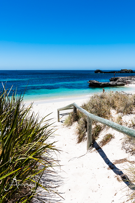 A path through the sand dunes to the beach - Rottnest Island Western Australia