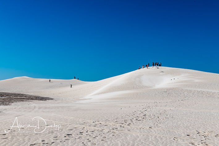 Sand Boarding on the huge dunes near Lancelin