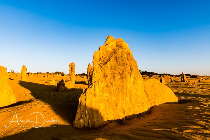 Huge Monolith - limestone pinnacle in the Pinnacles Desert, Nambung National Park