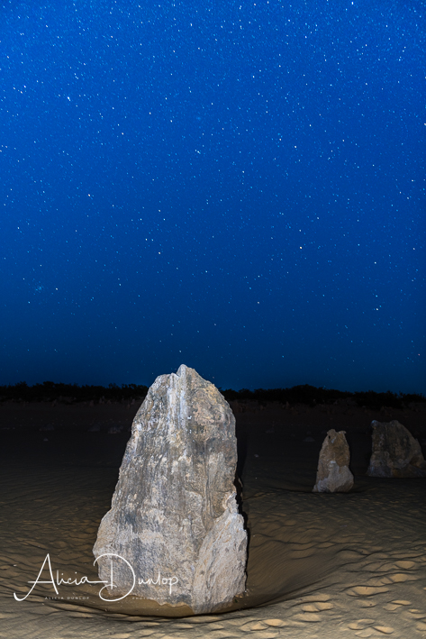 A limestone Pinnacle and the night sky