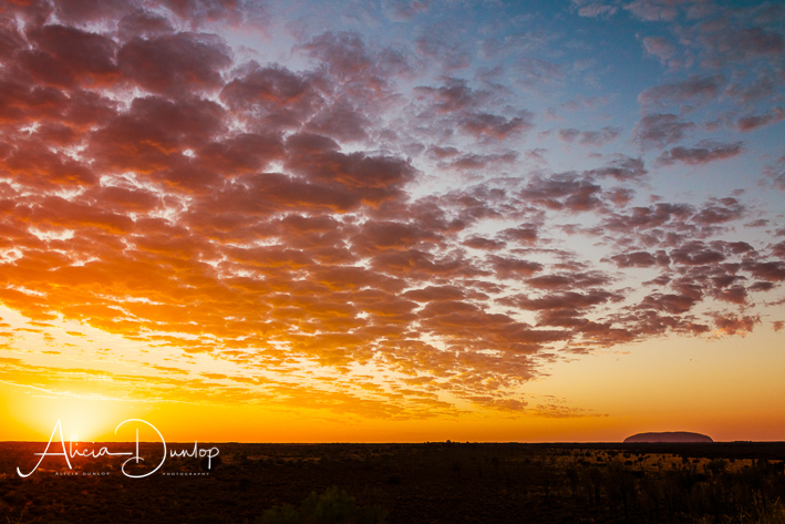 An amazing sunrise over Uluru not just a rock