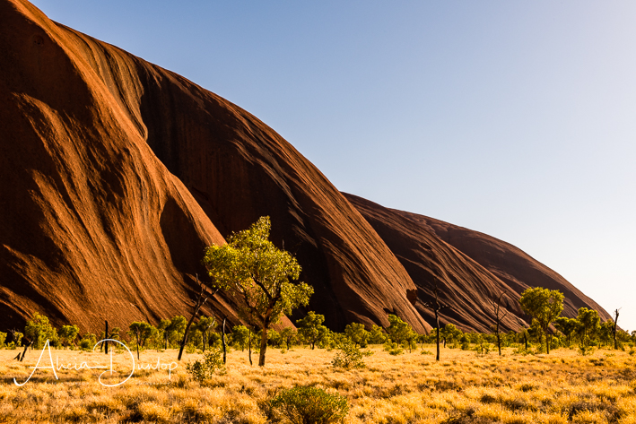 An impressive monolith in Australia's red centre