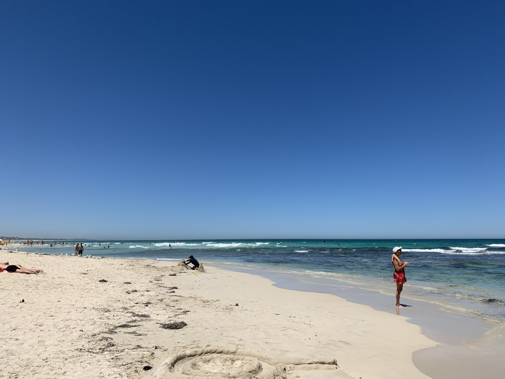 The beautiful Trigg Beach near Perth in Western Australia.