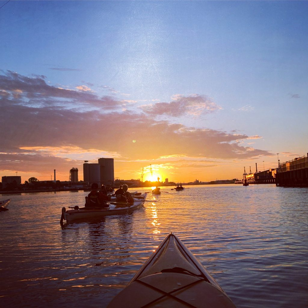 Sunset kayaking on the Yarra River - 7 amazing things to do in Melbourne