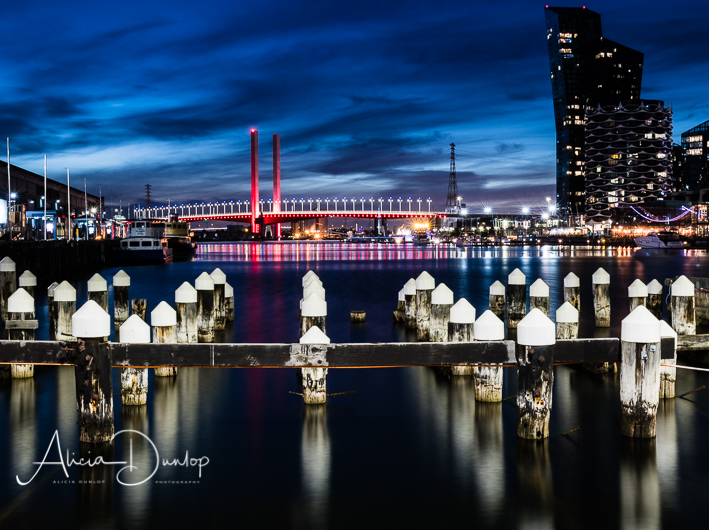 The stunning harbour area overlooked by Bolte Bridge, Melbourne