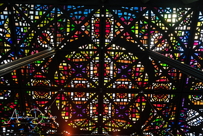 Stained Glass Ceiling - National Gallery of Victoria International (7 amazing things to do in Melbourne)