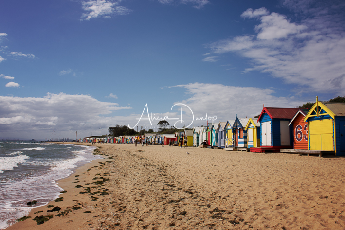 Melbourne's Brighton Beach has over 80 bathing huts